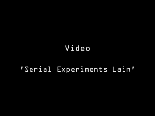 Im The Only Me, Right؟ [Serial Experiments Lain AMV]
