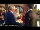 Свадьба Сати Казановой (отец ведёт дочь к жениху по итальянским обычаям)