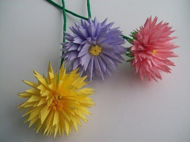 Цветы из офисной бумаги своими руками 661
