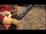 Выстрел ружья с ударно-кремневым замком (реконструкция 17 век) Московские стрельцы