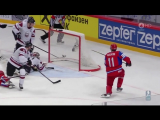 GREAT GOAL BY EVGENI MALKIN vs. LATVIA  IIHF World Championship 2012