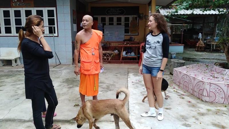 Тайское кладбище и деревня монахов отшельников