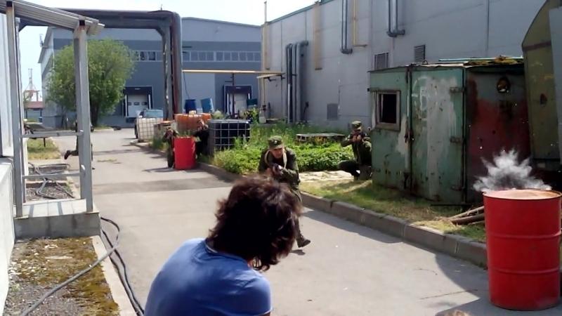 Съёмки эпизода захвата и уничтожения террориста Смерч-3
