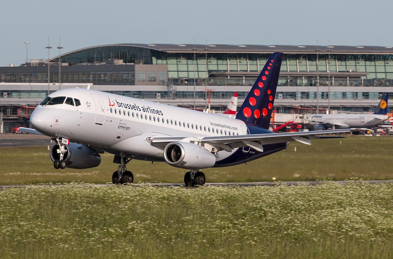 Лайнер брюссельской авиакомпании