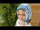 Шапка-Чепчик-Капюшон для детей и взрослых. МК. Вязание спицами.