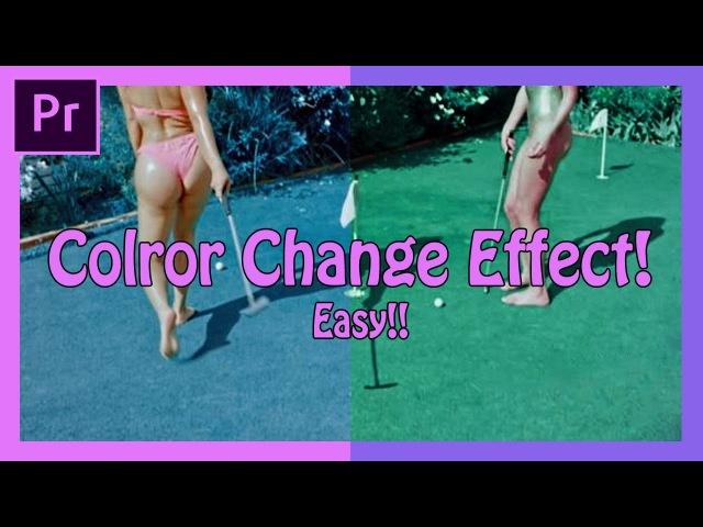 Adobe Premiere Pro Color Change Effect! (Easy Trippy Music Video Effect - Mac Miller - Lil Yachty)