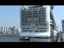 """P&O cruise ship """"Azura"""", first call at the Port of Rotterdam on April 23, 2011"""