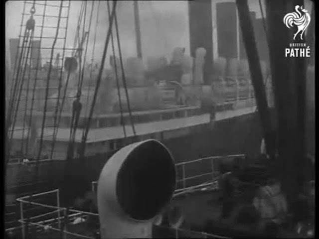 Southampton's Eastern Docks seen from the liner RMS Aquitania c1925