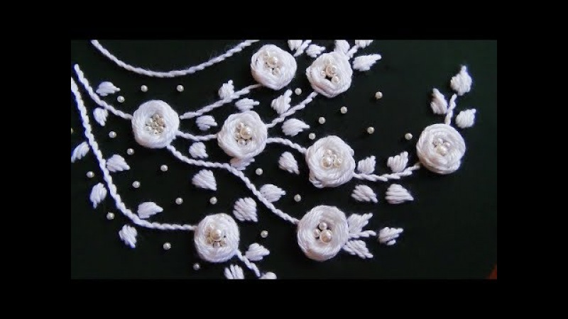 Hand Embroidery Neckline EmbroideryRosette Stitch