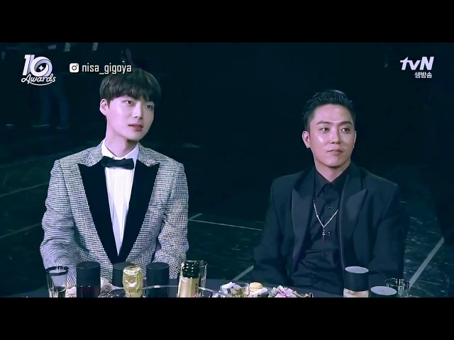 [Eng Sub] 161009 tvN Award - AhnGoo just never fails to surprise and move us with their love.