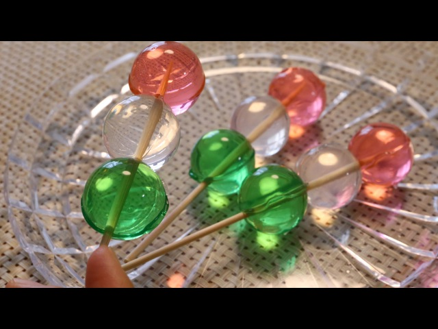 Agar Jelly DIY Hanami Dango edibe Orbeez アガーゼリー 花見団子