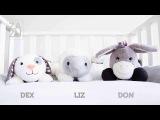 ZAZU DEX, LIZ &amp DON Soft Toy Comforter with Heartbeat Sound