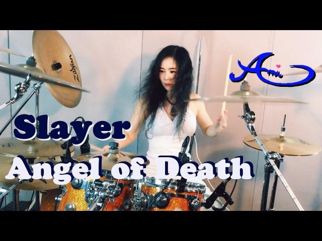 Slayer - Angel of Death drum cover by Ami Kim (Female drummer)
