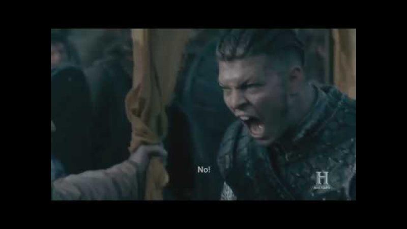 Vikings S05E10 - Ivar walks battle speech Scene HD