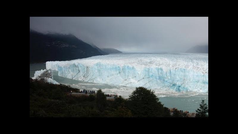 Как озеро прорывает ледник в Аргентине