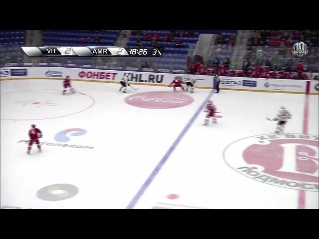 Моменты из матчей КХЛ сезона 16/17 • Гол. 2:3. Александр Пикар (Амур) здорово сыграл на пятаке 27.11