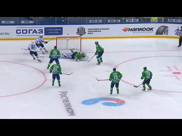 Моменты из матчей КХЛ сезона 16/17 • Гол. 0:1. Горшков Александр (Адмирал) точно бросил в ближний верхний угол 22.08