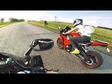 Школьница села за руль мотоцикла - девушка первый раз едет САМА на спортбайке