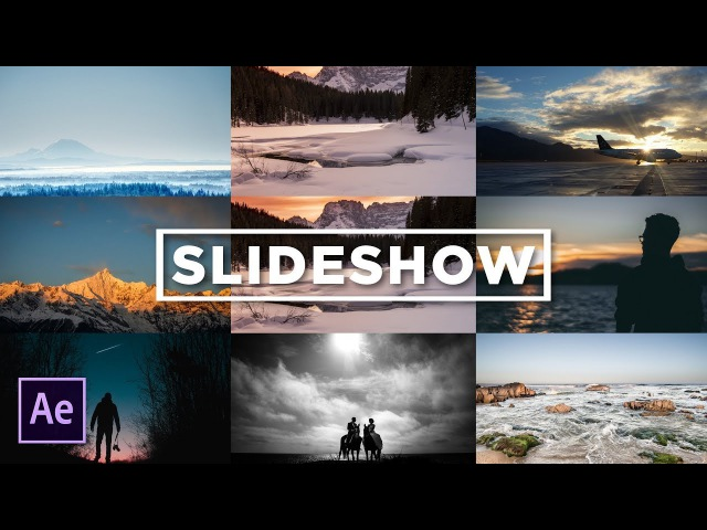 Creating a 3x3 Photo Slideshow Gallery Grid | After Effects Tutorial