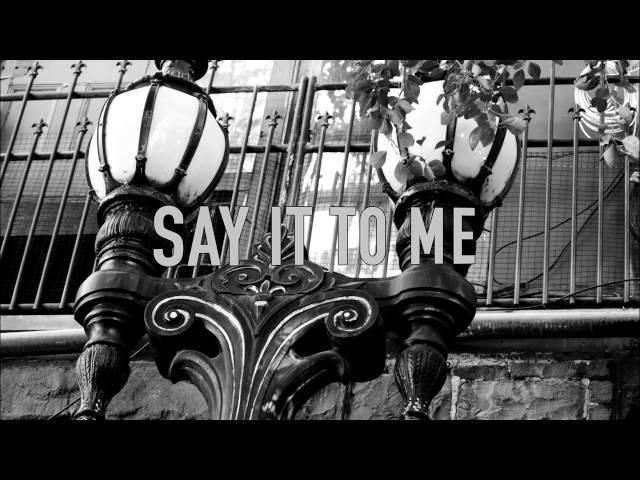Say It To Me - PET SHOP BOYS (Lyric Video)