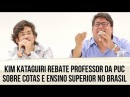 Kim Kataguiri rebate professor da PUC sobre cotas e ensino superior no Brasil
