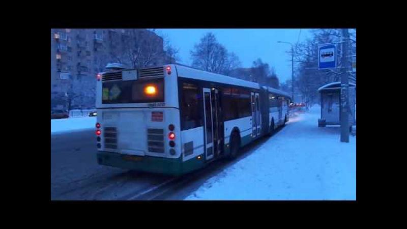 Автобус Санкт-Петербурга 7-34: ЛиАЗ-6213.20 б.2105 по №80 (15.01.17)