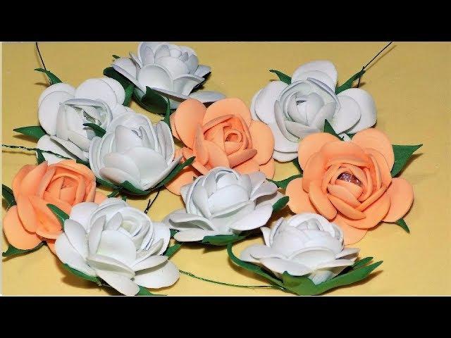 РОЗОЧКИ из фоамирана / Цветы из фоамирана МК