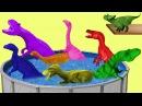 Динозавры прыгают в бассейн. Учим Цвета. Развивающий Мультик Для Детей на Английском