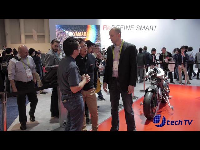 Yamaha MOTOROiD Autonomous Motorcycle at CES 2018