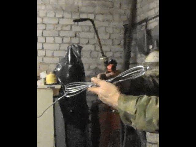 Газосварка. Как намотать сварочную проволоку.Gas welding. How to reel the welding wire.