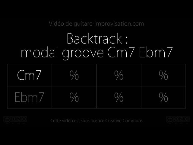 Modal groove Cm7 Ebm7 : Backing track