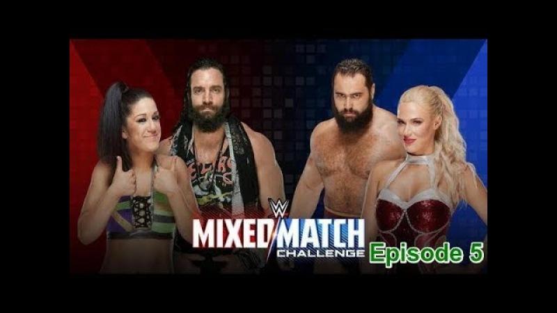 (Wrestling Premium) Elias Bayley vs. Rusev Lana - WWE Mixed Match Challenge - 13th February 2018