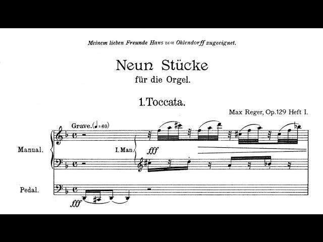 Reger Toccata und Fuge d-Moll op. 129 Nr. 1 und 2