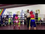 Makogonenko Kira 9 years girl boxer Knockdown boy boxer.Fight #10