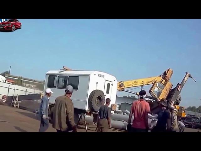 Жестокие аварии грузовиков и фур на трассе Свежие видео 2017
