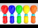 Learn Colors With Giant Milk Bottles Balloons for babies | M M Candy SurpriseToys FingerFamily Songs