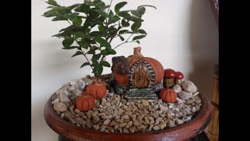Abóbora casa de Fadas / Pumpkin Fairy House