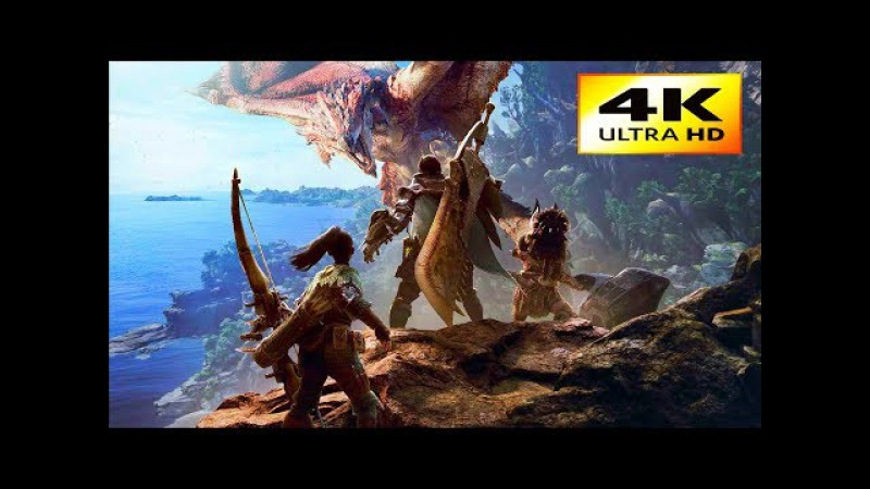 MONSTER HUNTER WORLD 4K First Tentative Moments Gameplay !!