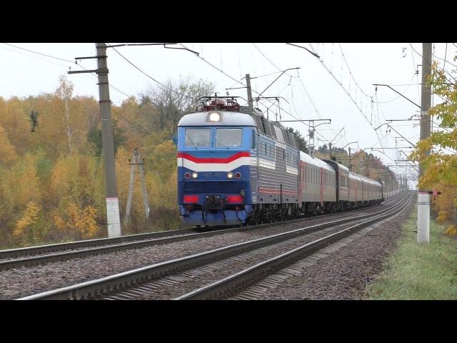 Электровоз ЧС7-011 с поездом № 024 Париж - Москва
