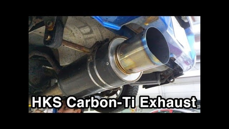 HKS Carbon-Ti Exhaust [Install Rev Sounds WRX Build]