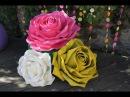 Большие цветы из изолона МК Giant roses diy Wedding backdrop YouTube