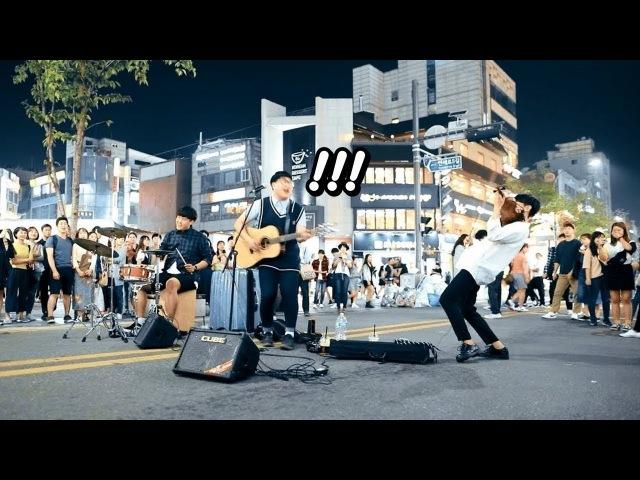 미친 바이올린 속주에 감탄사 연발하는 사람들 ㄷㄷ - 가능동 '나는나비(윤도현)' 버스킹 직캠