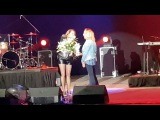 White lilies for Sandra from her polish fans (Opera Leśna Sopot, 22.07.2017)