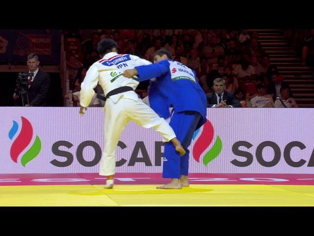 WC Budapest 2017 73 kg final Soichi Hashimoto JPN Rustam Orujov AZE dzigoro kano