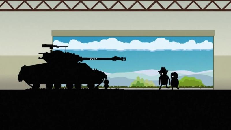 Истории танкистов. Fury Sherman M4A3E8. Мультик про танки.