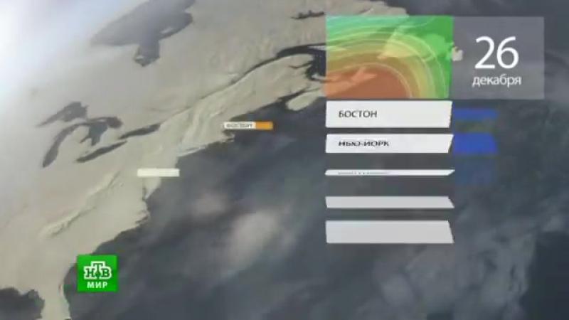 Прогноз погоды НТВ Мир 26 12 2015