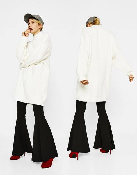 Короткое платье из трикотажа