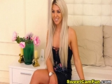 Blonde Babe Solo in Her Room