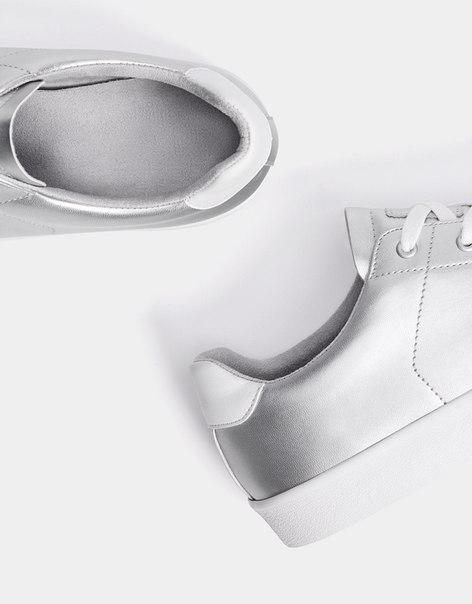 Мужские кроссовки с металлизированным эффектом