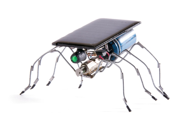 Вибро-бот - простейший из BEAM-роботов. Накапливая солнечную энергию, периодически вибрирует и за счёт этого движется вперед на пружинистых ножках